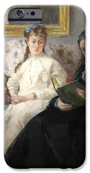 Berthe Paintings iPhone Cases - The Mother and Sister of the Artist iPhone Case by Berthe Morisot