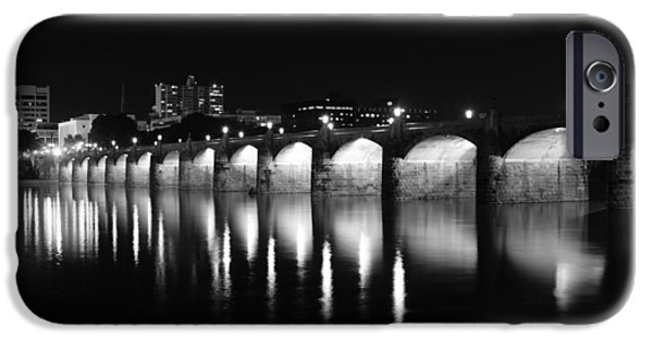 Etc. Photographs iPhone Cases - Beside the Bridge at Night.. iPhone Case by Rob Luzier