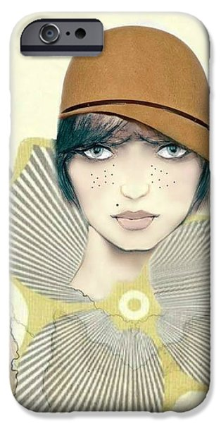 Tomboy iPhone Cases - Bess iPhone Case by Barbie Guitard