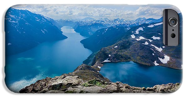 Norway iPhone Cases - Besseggen iPhone Case by Karma Boyer