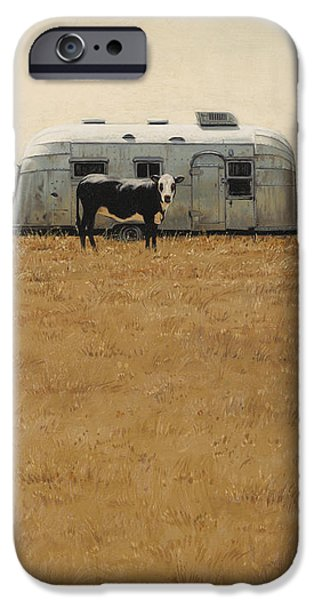 Trailers iPhone Cases - Bessie Wants To Travel iPhone Case by Ron Crabb