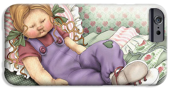 Rag Doll iPhone Cases - Best Bud Tired iPhone Case by Beverly Levi-Parker