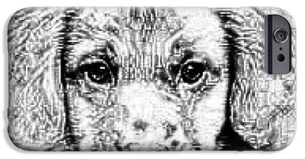 Puppy Digital Art iPhone Cases - Best Friend iPhone Case by Genna Steele
