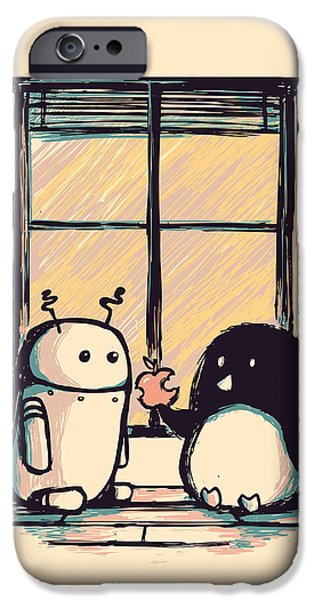 Best friends iPhone Case by Budi Kwan