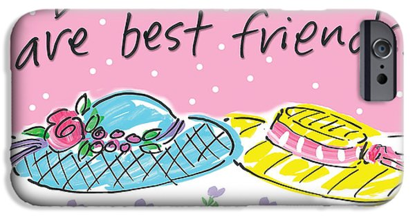 Sally Huss iPhone Cases - Best Friends iPhone Case by Sally Huss