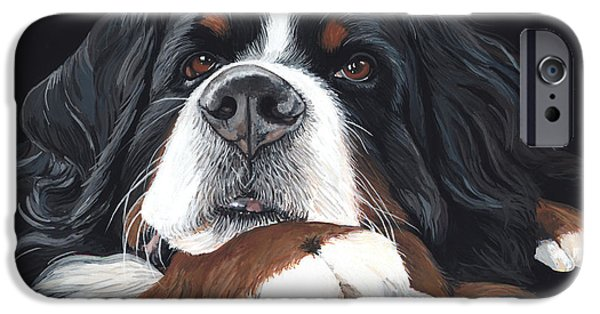 Recently Sold -  - Puppies iPhone Cases - Best In Black iPhone Case by Liane Weyers