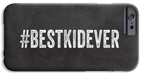 Employee iPhone Cases - Best Kid Ever- Greeting Card iPhone Case by Linda Woods
