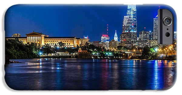 City Scape iPhone Cases - Best of Philadelphia panorama iPhone Case by Paul Tomlin