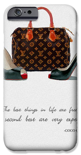 Original Mixed Media iPhone Cases - Best Things In Life 2nd Edition iPhone Case by Rebecca Jenkins