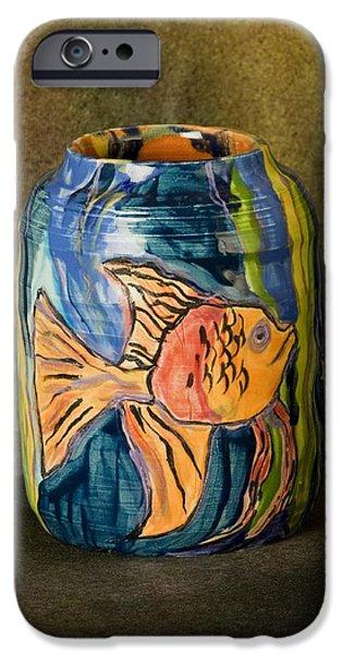 Glaze Ceramics iPhone Cases - Beta Holder  iPhone Case by Martha Nelson