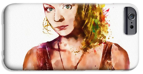 Innocence Mixed Media iPhone Cases - Beth watercolor iPhone Case by Marian Voicu