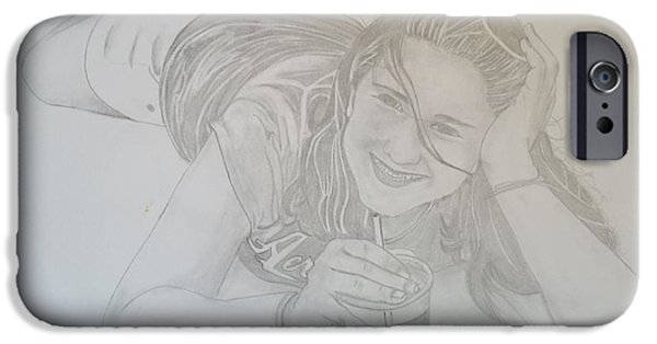 Nike Drawings iPhone Cases - Bethany iPhone Case by Justin Moore