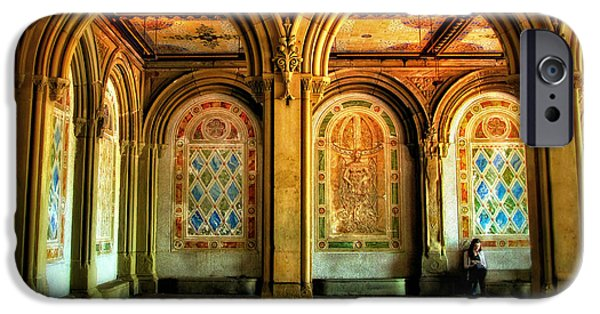 Mosaic iPhone Cases - Bethesda Terrace Arcade iPhone Case by Jessica Jenney