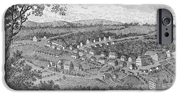Town iPhone Cases - Bethlehem, A Moravian Settlement In Pennsylvania, From The Pageant Of America, Vol.3, By Ralph iPhone Case by American School