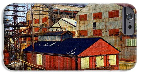 Chip iPhone Cases - Bethlehem Steel # 6 iPhone Case by Marcia Lee Jones