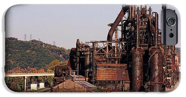Built Structure iPhone Cases - Bethlehem Steel # 8 iPhone Case by Marcia Lee Jones