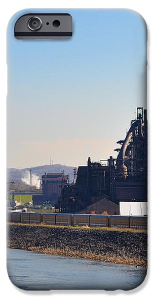 Bethlehem Steel and the Lehigh River iPhone Case by Bill Cannon