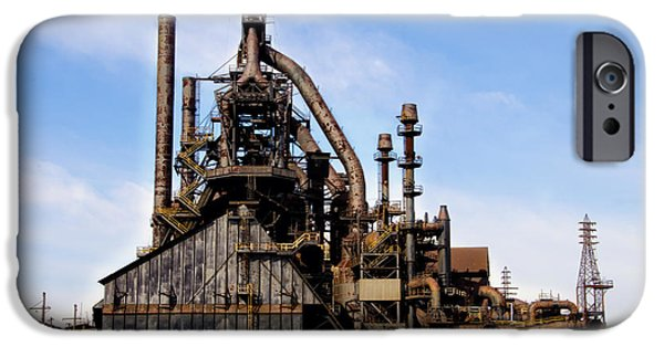 Bethlehem iPhone Cases - Bethlehem Steel Mill iPhone Case by Bill Cannon