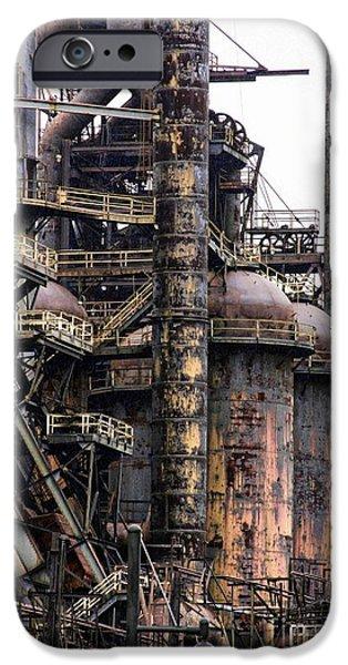Machinery iPhone Cases - Bethlehem Steel Series iPhone Case by Marcia Lee Jones