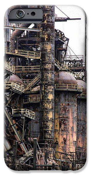 Machinery iPhone Cases - Bethlehem Steel Series iPhone Case by Marcia Lee Jones