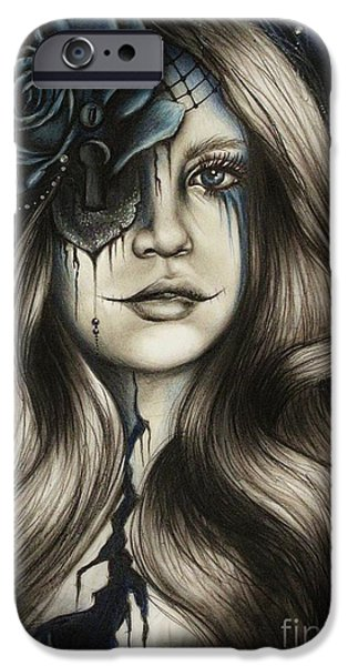 Netting Mixed Media iPhone Cases - Betrayal iPhone Case by Sheena Pike