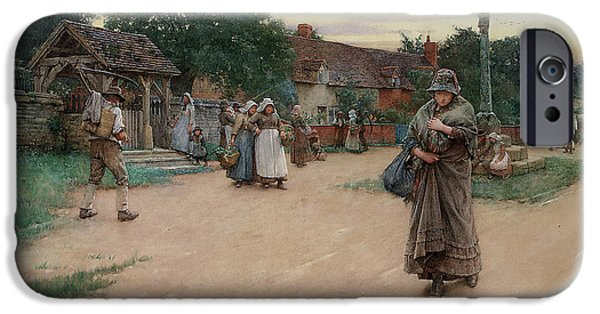 Sadness Paintings iPhone Cases - Betrayed iPhone Case by Walter Langley