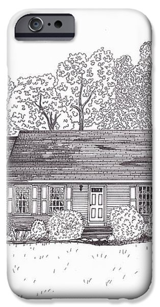 Betsy's House iPhone Case by Michelle Welles
