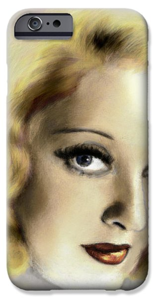 Bette Davis Eyes iPhone Case by Arne Hansen