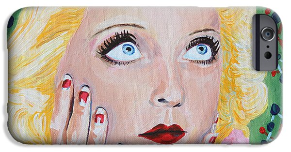 First Lady iPhone Cases - Bette Davis Portrait iPhone Case by Robert Yaeger