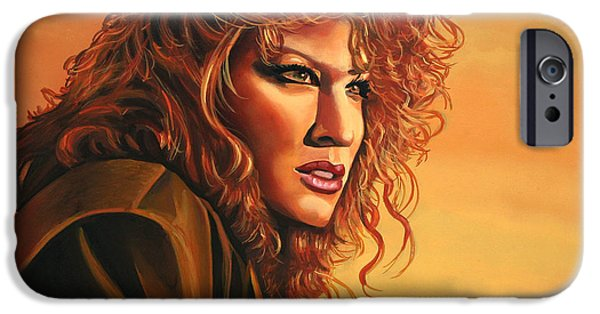 Distance iPhone Cases - Bette Midler iPhone Case by Paul  Meijering