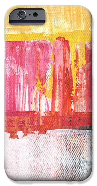 Better Days- Large Abstract iPhone Case by Linda Woods