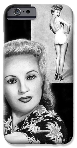 Photorealistic iPhone Cases - Betty Grable iPhone Case by Peter Piatt