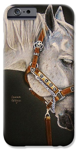 Horse Pastels iPhone Cases - Between Classes iPhone Case by Heather Gessell