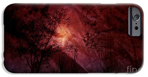 Forecast Mixed Media iPhone Cases - Between Darkness iPhone Case by Vanessa GF