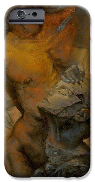 Pastel iPhone Cases - Between iPhone Case by Graszka Paulska
