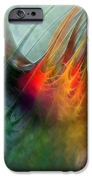 Abstract Expressionism Digital iPhone Cases - Between Heaven and Earth-Abstract iPhone Case by Karin Kuhlmann