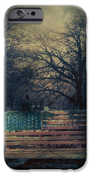Cemetary iPhone Cases - Between Night and Dawn iPhone Case by Douglas MooreZart