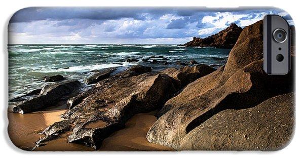 Edgar Laureano Photographs iPhone Cases - Between rocks and water iPhone Case by Edgar Laureano