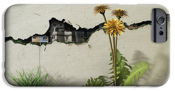 Poverty iPhone Cases - Between the Cracks iPhone Case by Cynthia Decker