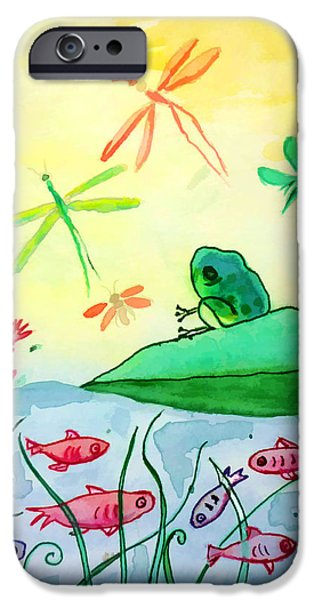 Alga iPhone Cases - Between two worlds iPhone Case by Jo Ann
