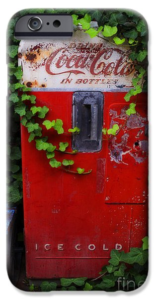 Rust iPhone Cases - Austin Texas - Coca Cola Vending Machine - Luther Fine Art iPhone Case by Luther   Fine Art