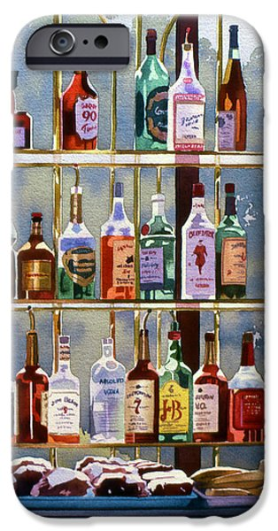 Alcoholic Beverages iPhone Cases - Beverly Hills Bottlescape iPhone Case by Mary Helmreich