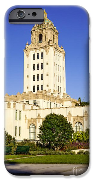 Beverly Hills Police Station iPhone Case by Paul Velgos