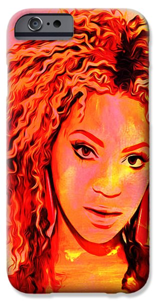 Jay Z Paintings iPhone Cases - Beyonce iPhone Case by Brian Reaves