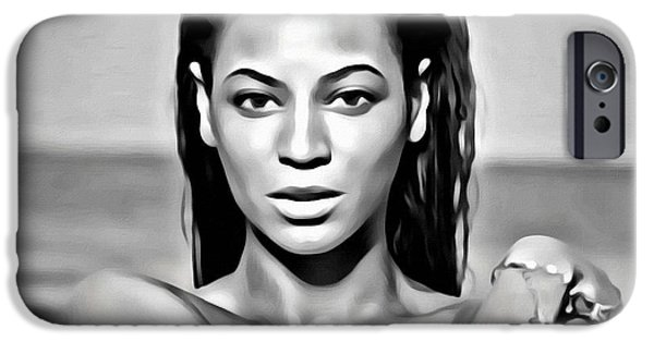 Jay Z iPhone Cases - Beyonce iPhone Case by Florian Rodarte
