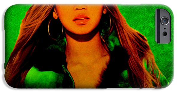 Jay Z Paintings iPhone Cases - Beyonce II iPhone Case by Brian Reaves