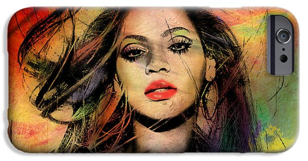 Entertainment iPhone Cases - Beyonce iPhone Case by Mark Ashkenazi