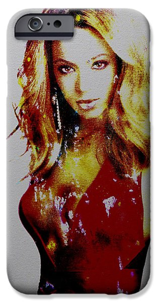 Jay Z Paintings iPhone Cases - Beyonce Simply Me iPhone Case by Brian Reaves