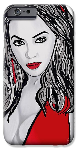 Destiny iPhone Cases - Beyonce the Beautiful iPhone Case by Saundra Myles