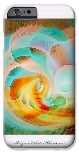 Digital Fine Pastels iPhone Cases - Beyond the Illusion iPhone Case by Gayle Odsather